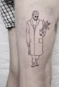 9张超简约的线条创意小清新纹身