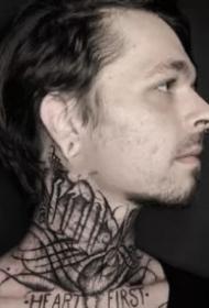 國外優秀的暗黑花體字紋身圖片