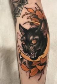 18組好看的貓咪紋身作品圖片