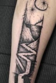 21组创意黑灰色小纹身图片欣赏