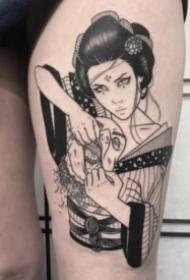 日本舞姬女郎的纹身图片作品9张