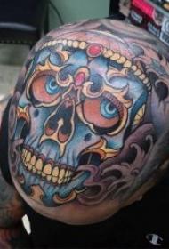 紋身骷髏   9組異域風格十足的嘎巴拉骷髏紋身圖案