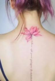 18張唯美女生背部脊椎紋身作品