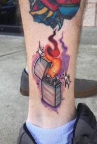 打火机主题的9张打火机纹身图案