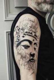 传统的一波佛像纹身图案欣赏