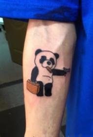 可爱的国宝熊猫的主题纹身作品9张