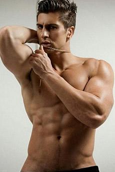 身材誘人的歐美男模肌肉帥哥健美寫真圖片