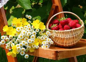 草莓吃起来爽口舒胃 让人感到清凉,