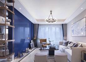 一组贵族蓝的北欧式装修效果图欣赏