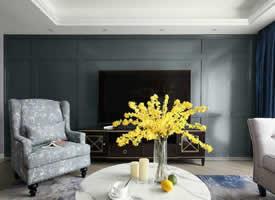 125㎡現代美式風四居室,流暢的線條,溫暖的配色