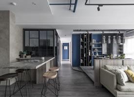 45坪小公寓開放式空間裝修設計圖欣賞
