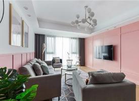 110㎡高級灰+粉色 高顏值的北歐風