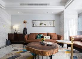 簡約北歐風家居設計,客廳桌子造型很有意思