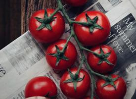 一組拍攝的特別有意境感的番茄圖片
