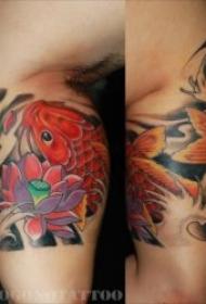 紋身鯉魚  10組代表好運和吉祥的鯉魚紋身圖案