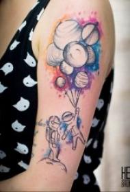 纹身星球   技巧性十足且不失时尚感的星球主题纹身图案