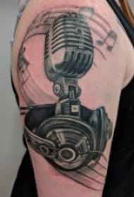 音乐符号纹身  灵动而又美妙的音符纹身图案