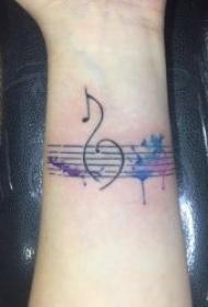 音樂符號紋身   8款婉轉動聽的音樂主題紋身圖案