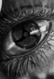 黑灰眼睛紋身  多款明亮有神的眼睛紋身圖案