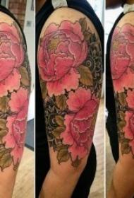 紋身牡丹花圖案   9款雍容華貴的牡丹花紋身圖案