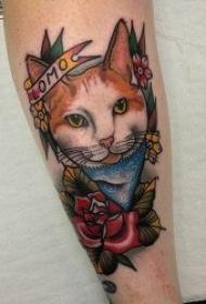 貓的紋身圖案   可愛而又靈動機靈的貓紋身圖案