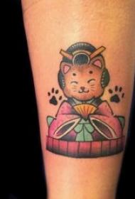 貓紋身圖案 身體各部位的小貓紋身圖案