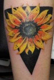 花朵紋身圖案 水彩紋身妖艷的花朵紋身圖案