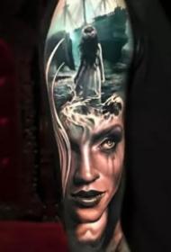 超现实主义的9张欧美纹身作品