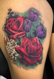 花朵纹身 女生各个平安线路导航小花朵漂亮纹身图片