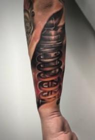 适合男性的机械3d手臂纹身图案