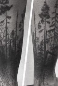 樹林紋身圖案  9款創意而又精彩的森林紋身圖案