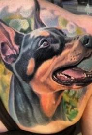 小狗纹身   8张霸气生动可爱的小狗纹身图案