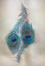 羽毛紋身圖  8款輕柔而又唯美的羽毛紋身圖案