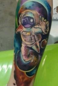 宇宙纹身图案 多款奇特各异的外星人等宇宙星空主题纹身图案