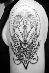 9张适合双子座的纹身作品图案