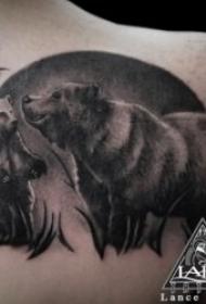 紋身熊圖案   多款粗壯兇猛而又創意的熊紋身圖案