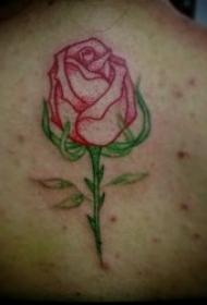 玫瑰花紋身圖案 女生身體各部位植物玫瑰花的紋身圖案