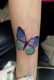 紋身小蝴蝶圖案  輕捷飄逸的小蝴蝶紋身圖案