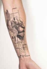 手臂線條紋身 18組創意的胳膊等部位線條紋身圖片