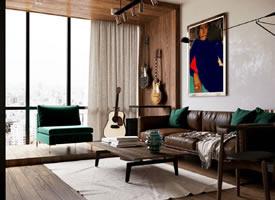 50平米公寓設計,麻雀雖小五臟俱全