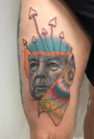 另類創意風格的歐美肖像紋身圖片