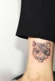 老虎紋身圖案-10組表情各異的老虎紋身圖