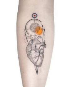 小臂水彩紋身 好看的水彩設計小臂紋身圖片