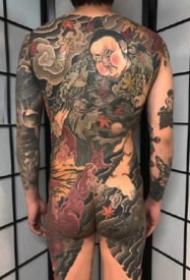 通體紋身 傳統風格的9張滿背通體紋身作品圖案