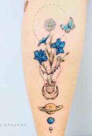 小清新紋身小臂 小臂上的一組唯美小清新紋身圖案