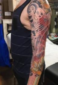 傳統花臂紋身 傳統風格的9張花臂紋身作品圖案欣賞