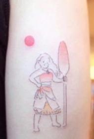 简笔纹身图-卡通版风格的9张小清新简笔纹身图片
