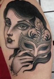 人物紋身圖案女  多款風格各異的百變女郎人物紋身