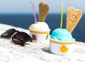 清涼夏日冰淇淋高清桌面壁紙
