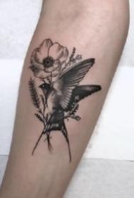 飛燕紋身 9張靈巧的小鳥燕子主題紋身圖片